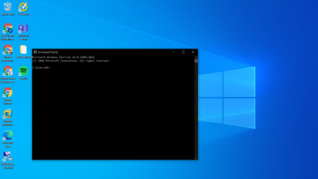 Command Prompt open on Windows 10 desktop