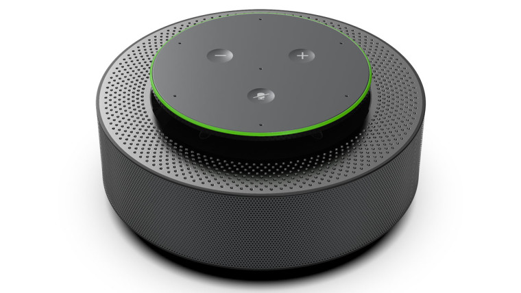 Microsoft Intelligent speaker on white background