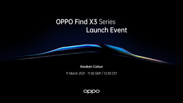 Announcement of the OPPO Find X3 Series launch event