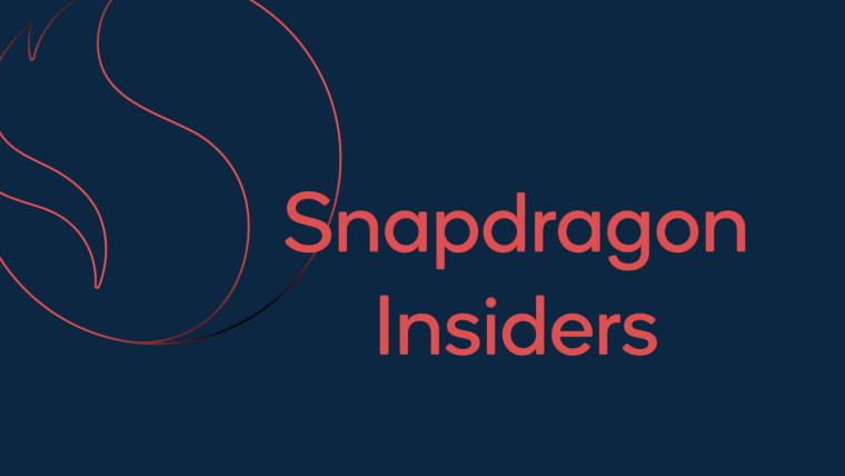 Snapdragon Insider Program text on blue background