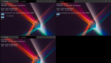 Windows terminal preview version 1 point 7 GUI with features