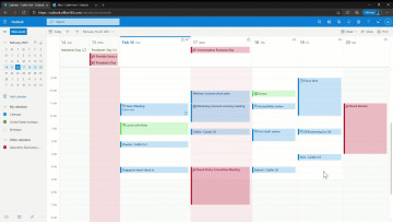 Screenshot of Outlook board view on the web