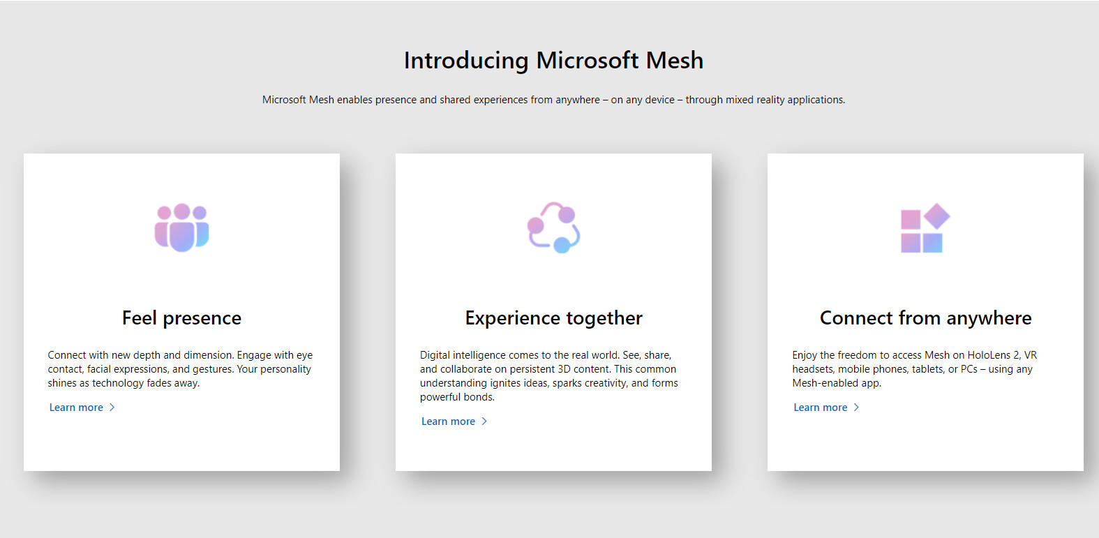 Microsoft Mesh - Feel presence connect from anywhere and experience together