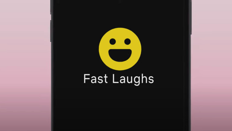 Mobile device showing Netflix&039s new Fast Laughs feature