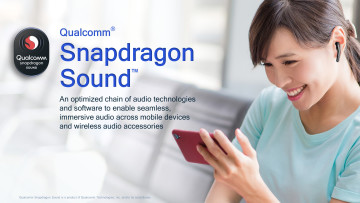 Qualcomm Snapdragon Sound text with brief description of the technology