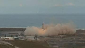 Starship SN10 landing in Boca Chica