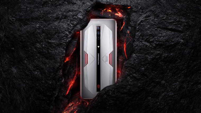 The RedMagic 6 Pro in a silver color