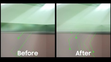 Visual representation of the improved light capture of ISOCELL 20