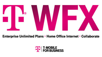 T-Mobile logo and WFX text showing the three products offered