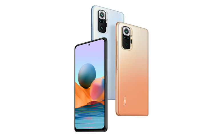 The Redmi Note 10 Pro&039s front and back panels
