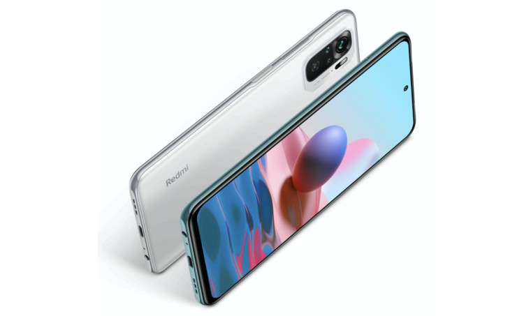 The Redmi Note 10S front and rear designs