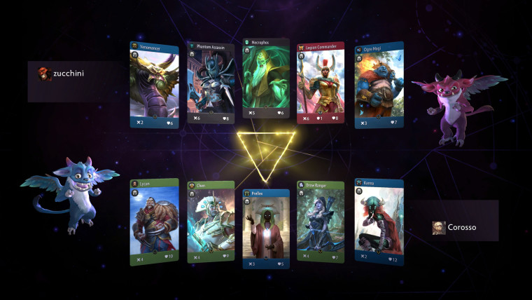 Artifact game screenshot showcasing some of its cards