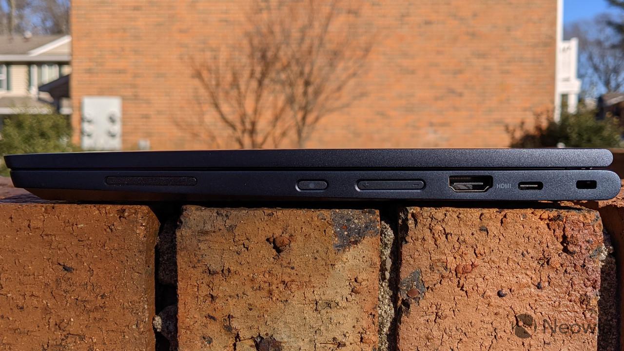 Side view of ThinkPad C13 Yoga