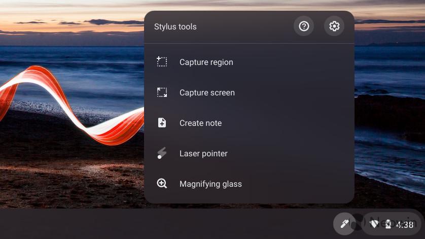 Screenshot of pen options on ThinkPad C13 Yoga