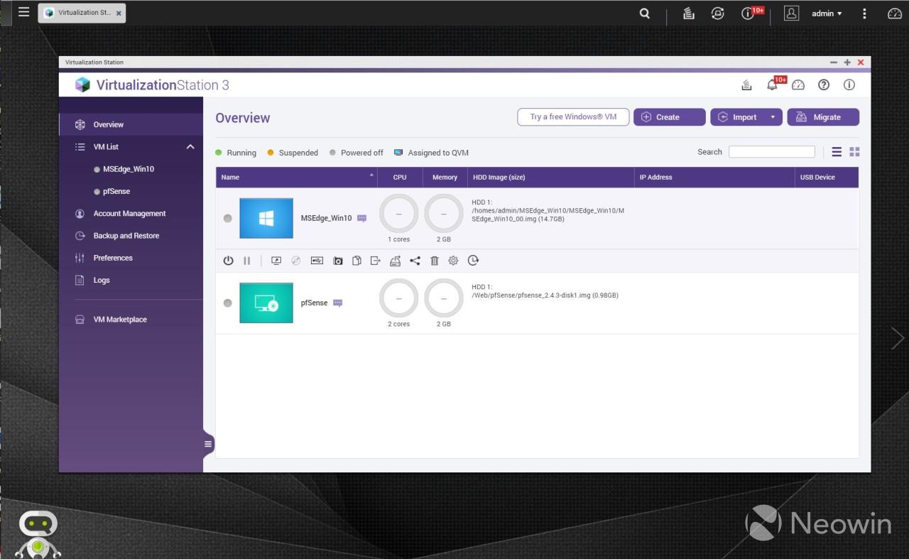 QNAP VirtualizationStation 3 Overview