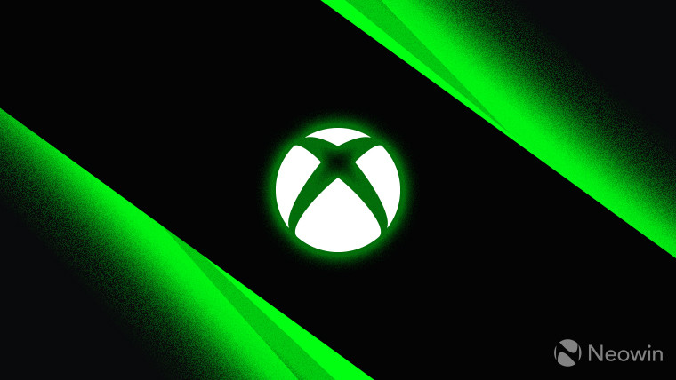 Xbox logo monochrome with green outer glow on dark background