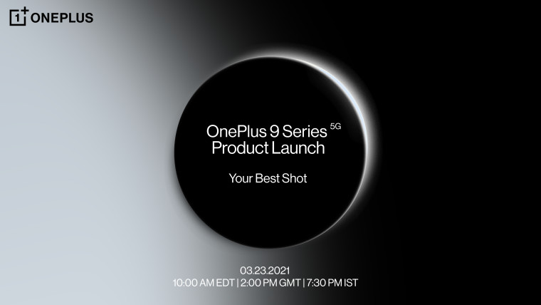 OnePlus 9 Series 5G Product Launch text with event information