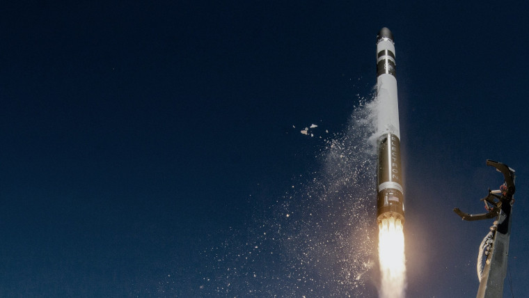 An Electron rocket taking off