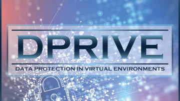 The DARPA DPRIVE logo