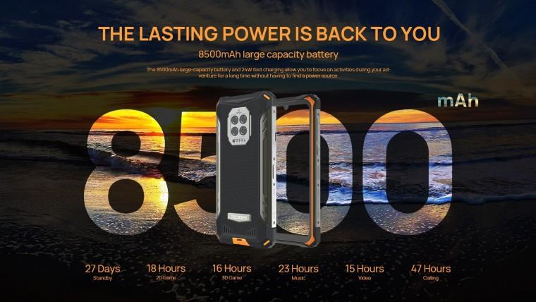doogee s86 8500mah battery specifications