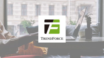 The TrendForce logo with a laptop in the background
