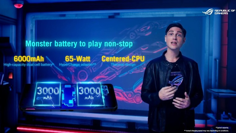 Battery specs of the ROG Phone 5