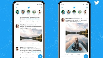 Comparison between the old and new preview designs for Twitter images
