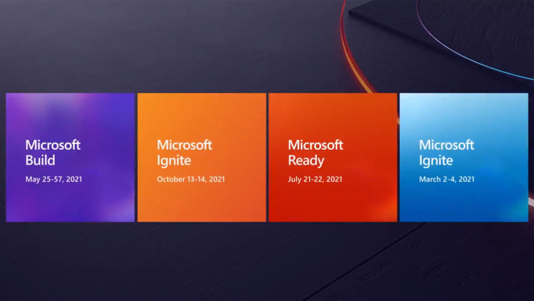 Microsoft show dates for the 2021 year
