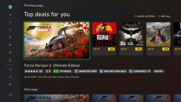 Microsoft Store page showing the Languages label for Forza Horizon 4