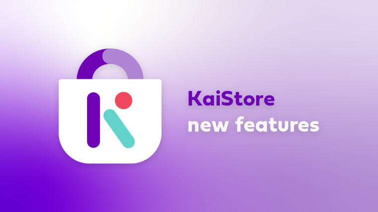 KaiStore graphic advertising new features