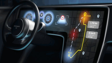 A smart display in a car