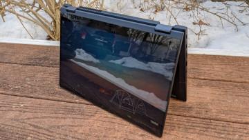 Lenovo ThinkBook 14s Yoga in tent mode