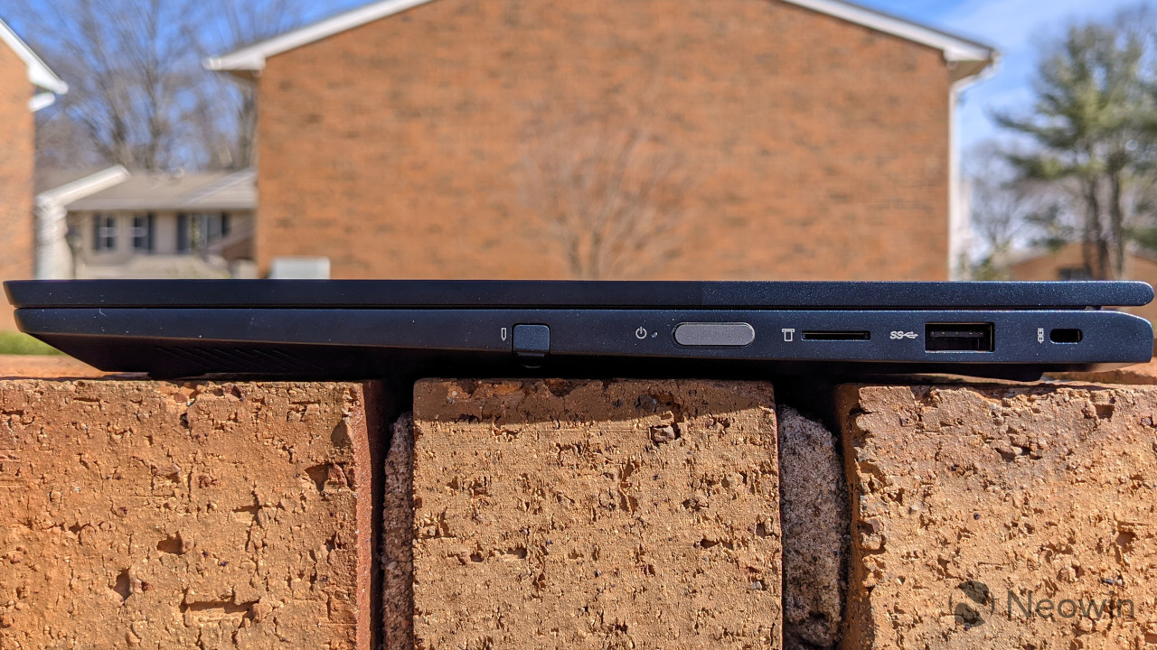 Side view of ThinkBook 14s Yoga