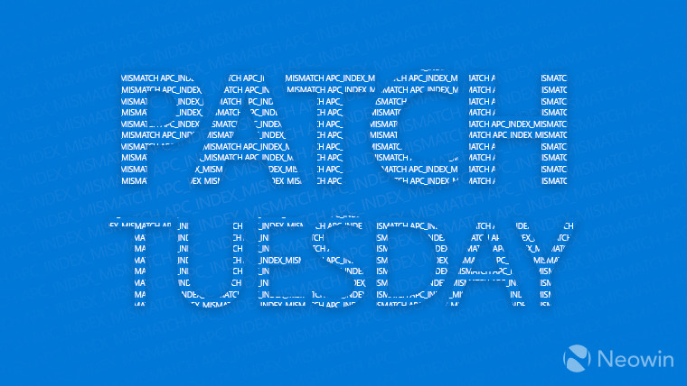 Patch Tuesday text on bright blue background