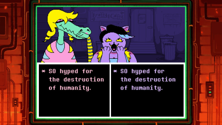 A screenshot of Undertale on an Xbox console