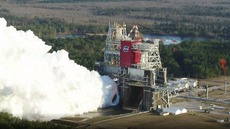 A NASA SLS component being tested