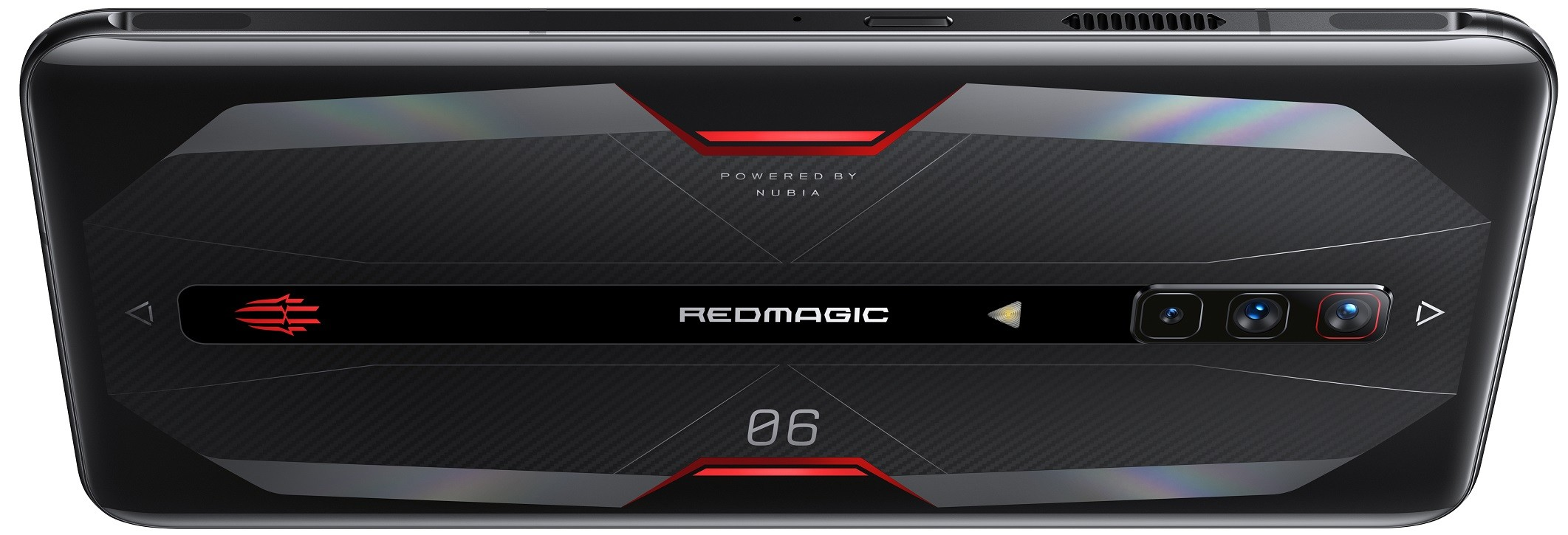 Rear view of the RedMagic 6 in Eclipse Black