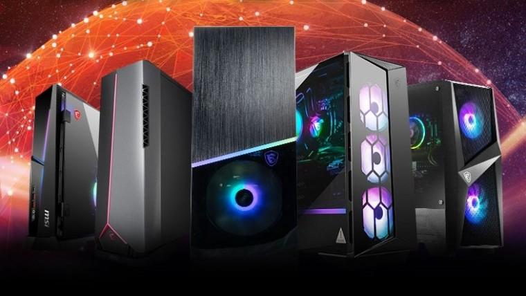 Lineup of MSI desktop PCs with 11th generation Intel Core processors