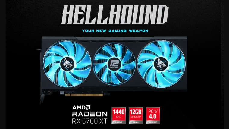 The PowerColor RX 6700 XT Hellhound graphics card