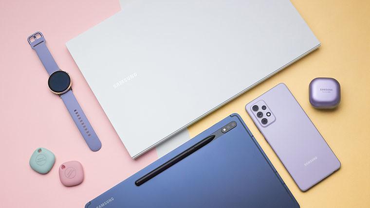 Galaxy A72 Galaxy Tab S7 S Pen Galaxy Buds Pro Galaxy Watch Active2 Galaxy SmartTag Galaxy Book Ion2