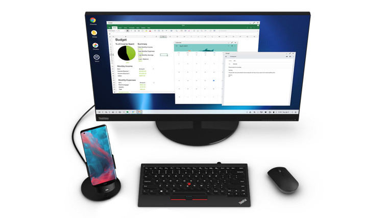 Motorola Ready For feature with monitor and keyboard