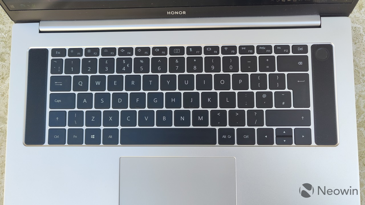 Top-down view of the MagicBook Pro keyboard