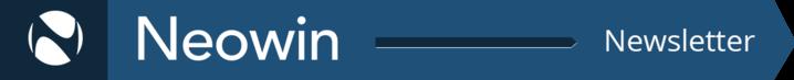 Neowin Newsletter banner white on dark blue