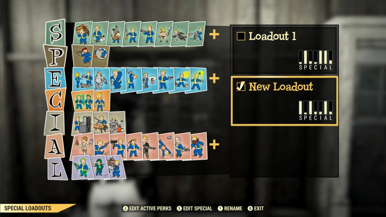 Fallout 76 SPECIAL loadouts