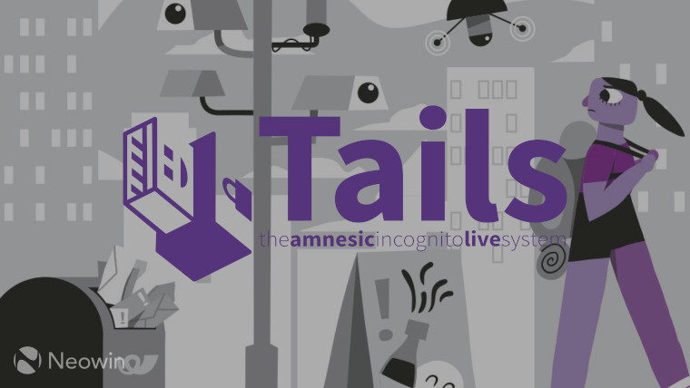The Tails logo on a city background