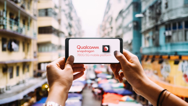 Smartphone with Snapdragon 780G text