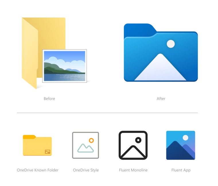 New icons in File Explorer