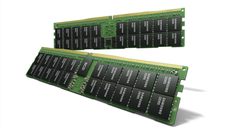 Two sticks of Samsung high density DDR5 memory modules