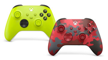 Electric Volt and Daystrike Camo Xbox Wireless Controllers