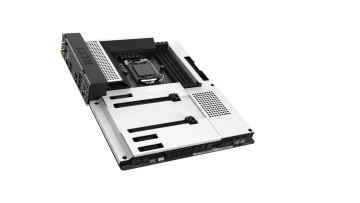 The NZXT N7 motherboard in matte white color